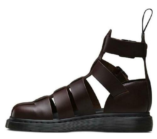 European Mens Real Leather Roma Sandals Shoes Closed Toe Hollow out Buckle New L
