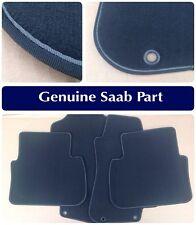 Saab 9-5 Black & Blue Front/Rear Mat Set RHD Qty 4 Genuine Official OE