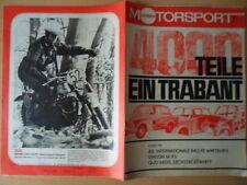 Illustrata Motorsport 12/1971 * Trabant - 4000 pezzi Trial-maestro Simson rs50