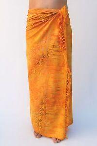 sa304p NUOVO Qualità Premium Arancione Sarong Pareo Gon na