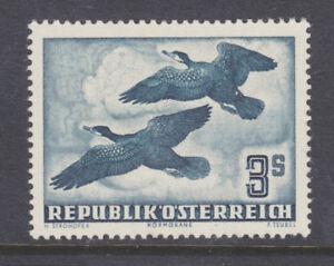 Austria-Sc-C57-MLH-1953-3s-dark-slate-green-Great-Comorants-in-Flight-VF
