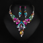 Fashion-Crystal-Pendant-Bib-Choker-Chain-Statement-Necklace-Earrings-Jewelry thumbnail 150