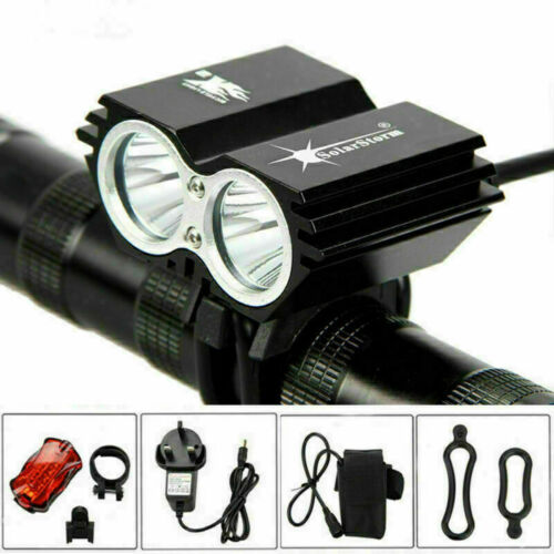 LED Bike Lights USB Rechargeable MTB Rear/&Front Set Bicycle Lamp Light Torch Kit