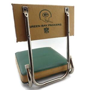Vtg-Green-Bay-Packers-Football-Stadium-Seat-Game-Folding-Chair-Backrest-Bleacher