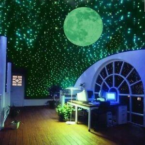 Mur-3D-Fluorescent-Star-Stickers-A-faire-soi-meme-Glow-Dark-lumineuse-Enfants-Chambre-A-Coucher
