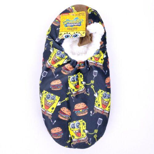 SpongeBob Squarepants Xmas Fuzzy Babba Slipper Socks Mens Slippers Size M//L