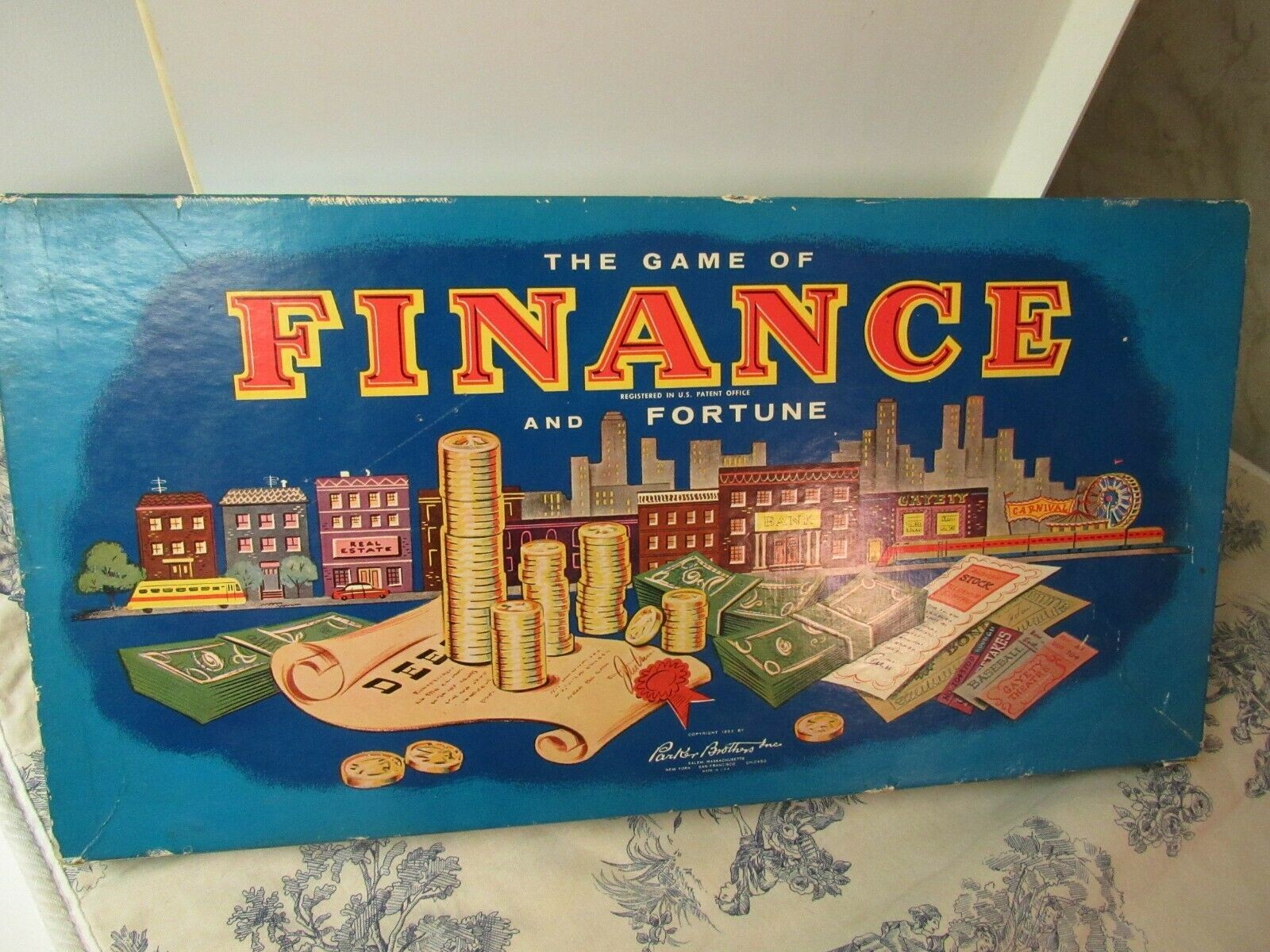 Vtg. 1955 Parker Bredhers Finance and Fortune Board Game