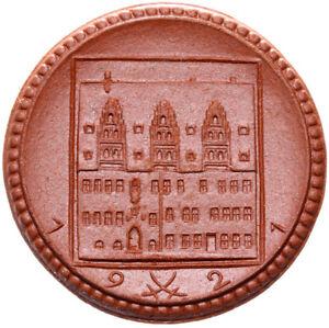 Meissen-Muenze-2-Mark-1921-Meissen-Porzellan-braun
