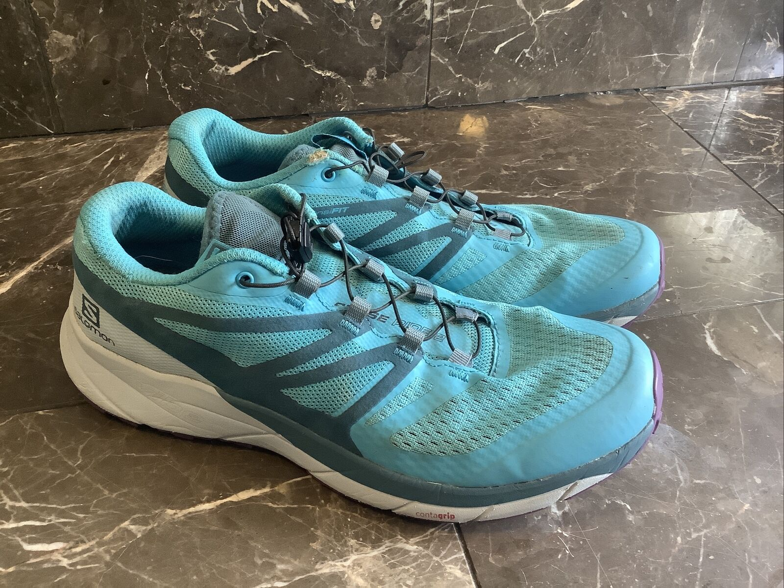 Salomon Sense Ride 2-Taille 9.5 - Trail Running et de Randonnée pour Femme