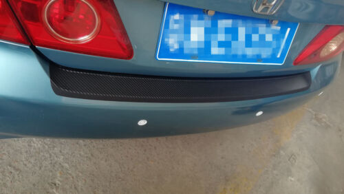 For Frod Fusion 3D Trunk Carbon Fiber Texture Bumper Guard Decor Sticker Trim