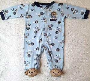 fd0170b33 Boy s Sleeper Size 3-6 Months~ Blue Color ~Sports Theme~ Carters