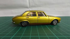 French Dinky Peugeot 504 Metallic Electric Yellow 1406 Rare Diecast Toy Car 1980