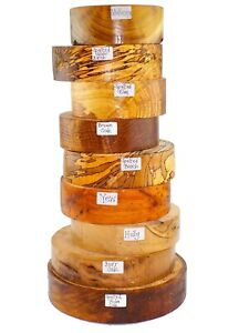 4-Premium-Woodturning-bowl-blanks-gift-selection-box-Spalted-Burr-Quarter-sawn