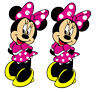 Classic Minnie Mouse Reusable Wall Sticker Decal Easy Remove & Reuse Nursery