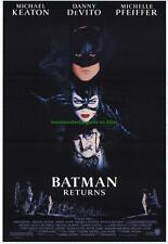 BATMAN RETURNS MOVIE POSTER MICHAEL KEATON M. PFEIFFER