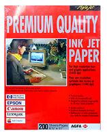 100,000 Sheets Agfa Premium Quality Ink Jet Printer Paper 32 Lb Matte 8.5 X 11