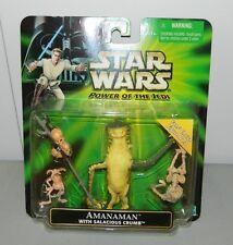 Star Wars Power of the Jedi Amanaman with Salacious Crumb Jabba's Palace Bounty