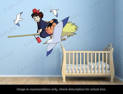 Kiki's Delivery Service - Kiki and Jiji (A) Wall Art Applique Stickers