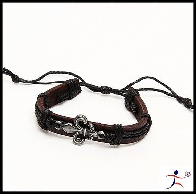 Men Leather// Hemp Wrist Cuff Surfer Tribal MultiWrap Strand Leather Bracelet ZPZ