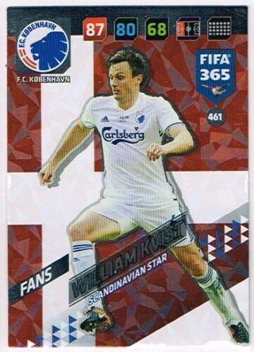 PANINI FIFA 365 2018 ☆☆☆ Nordic Edition ☆☆☆ Scandinavian Star cartes #460 à #468