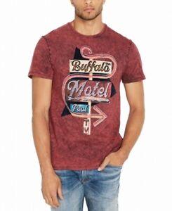 Buffalo-David-Bitton-Mens-T-Shirt-Red-Size-2XL-Ticar-Graphic-Tee-35-256