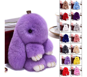 Keyring-Bunny-Soft-Faux-Fluffy-Rabbit-Fur-HandBag-Pendant-Charm-Pompom-Keychain