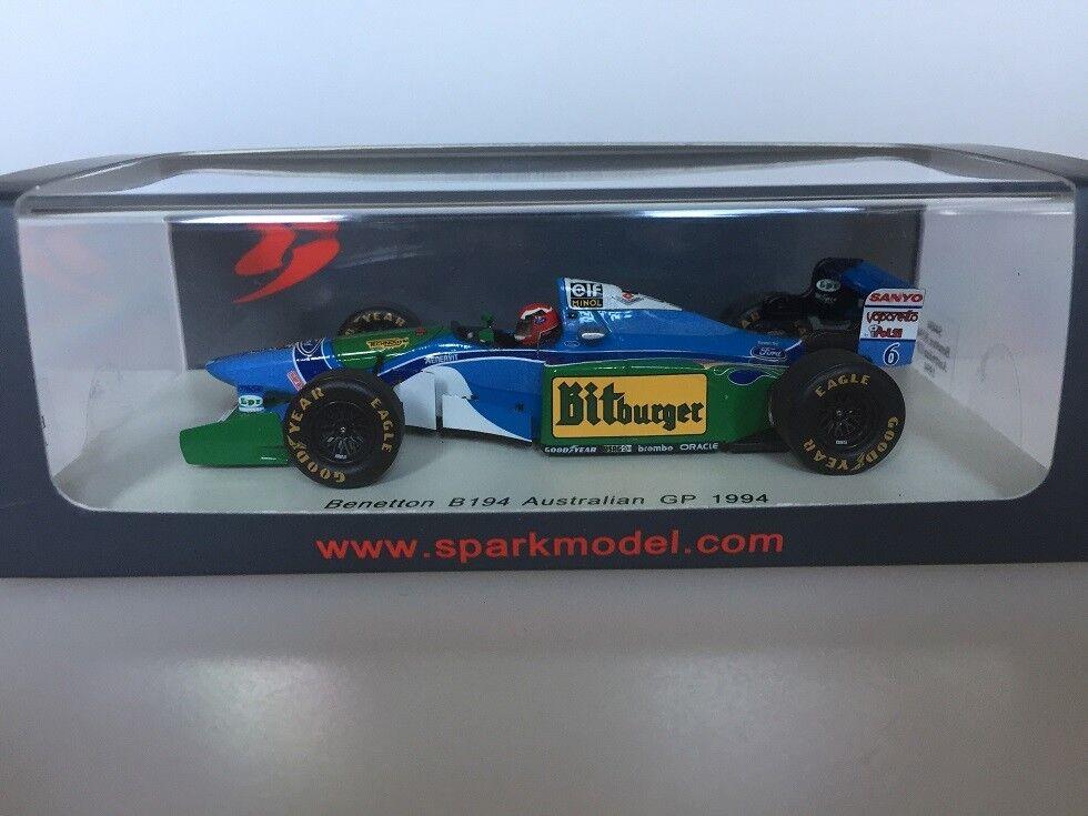 1 43 Spark Benetton B194 Australian GP 1994 S4484