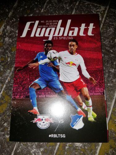 TSG 1899 Hoffenheim 25.02.2019 Fan Programm-Heft//Stadion-Magazin RB Leipzig