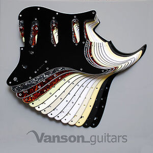 Scratchplate Pickguard DIRECT FIT for USA, MEX Fender® Stratocaster® Strat®* SSS