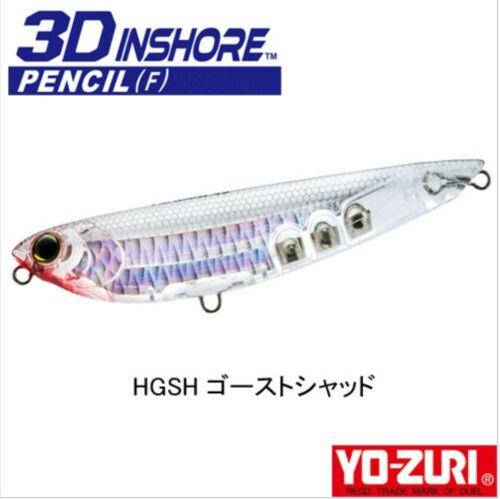 Yo-Zuri 3D Inshore Pencil 100mm 14g Floating Surface Lure