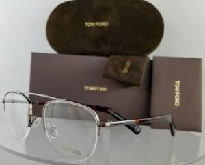 4d5cb8853d7 Brand New Authentic Tom Ford Eyeglasses FT TF 5450 012 49mm Silver ...