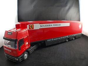 Old-Cars-Iveco-Ferrari-Transporter-Scuderia-Racing-Truck-1-43-boxed-en-boite