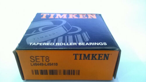 Cup /& Cone Tapered Roller Bearing Timken L45449 L45410 SET8
