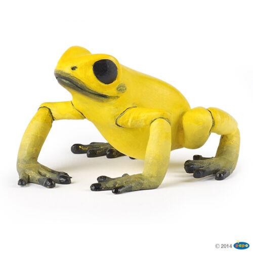 Amarillo Mbasogo rana 5 cm animales salvajes Papo 50174