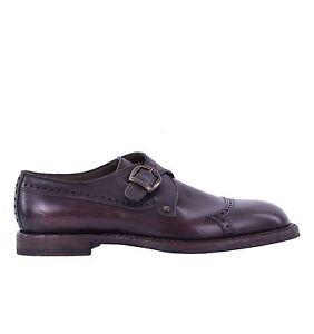 DOLCE-amp-GABBANA-Zweifarbige-Derby-Schuhe-MARSALA-mit-Schnalle-Braun-Shoes-05085