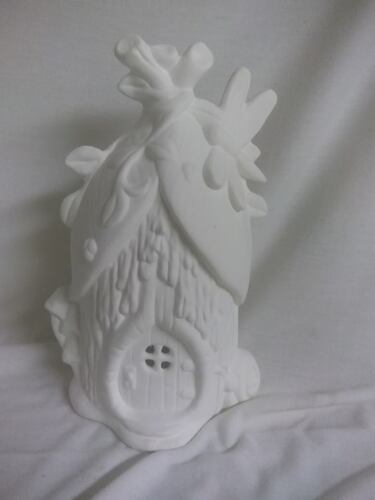 """Ready To Paint Dragonfly Villa Fairy House 8/"""" x 5/"""" Ceramic Bisque"""