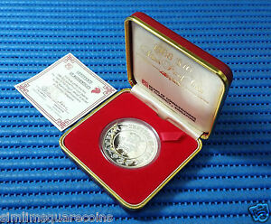 1988-Singapore-Mint-039-s-Lunar-Series-10-Year-of-the-Dragon-1-oz-Silver-Proof-Coin