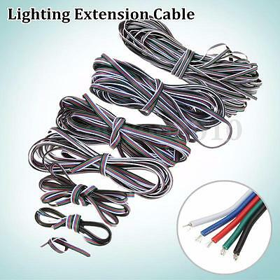 1M-50M 5 Pin Extension Cable Line Cord Wire 3528/5050 RGBW LED Strip Light Lamp