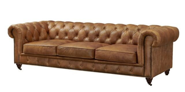 Curved Top Grain Leather Sectional Sofa