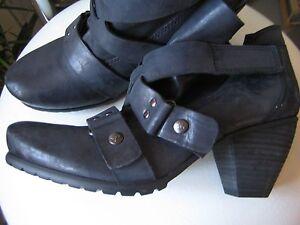 Details zu Otto Kern Damen Schuhe ,Ankle Boots Leder dunkelblau,neu mit Karton