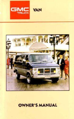 1987 GMC G Van Owners Manual User Guide Operator Book Fuses Fluids OEM