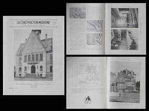 Aimable La Construction Moderne 33 1930- Dinard Villa Maurice Fournier, Pont Ste Maxence