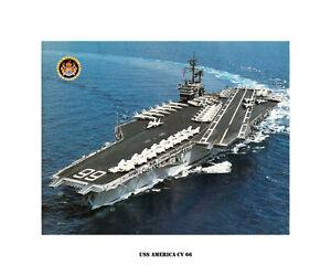 USS MIDWAY CV 41 Naval Ship Photo Print USN Navy