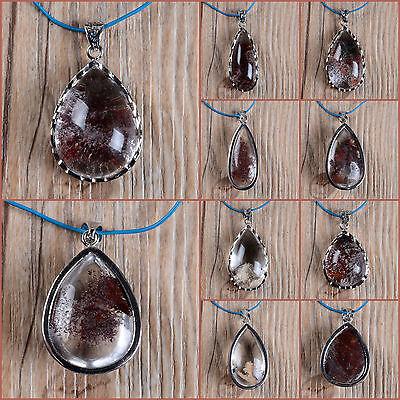Phantom quartz oval pendant
