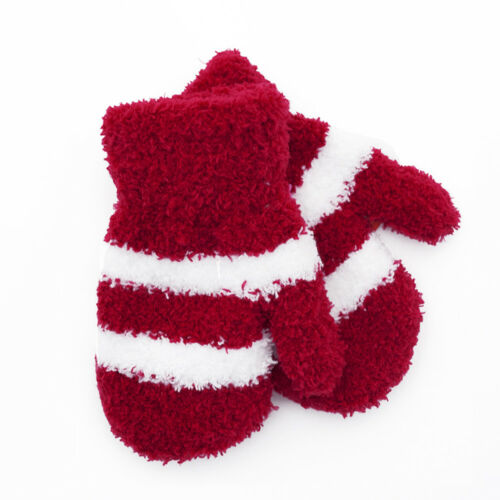 Babies Soft Touch Striped Magic Mittens Winter Warm 3 Colours