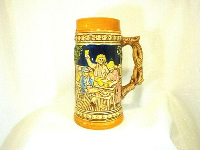 Collectable Vintage Japanese Ceramic Large Beer Stein