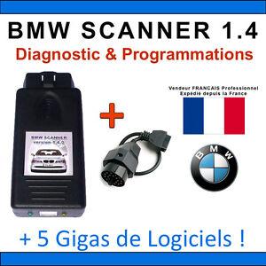 Interface Diagnostique BMW Scanner V1.4 K+DCAN K-CAN OBD2 OBDII