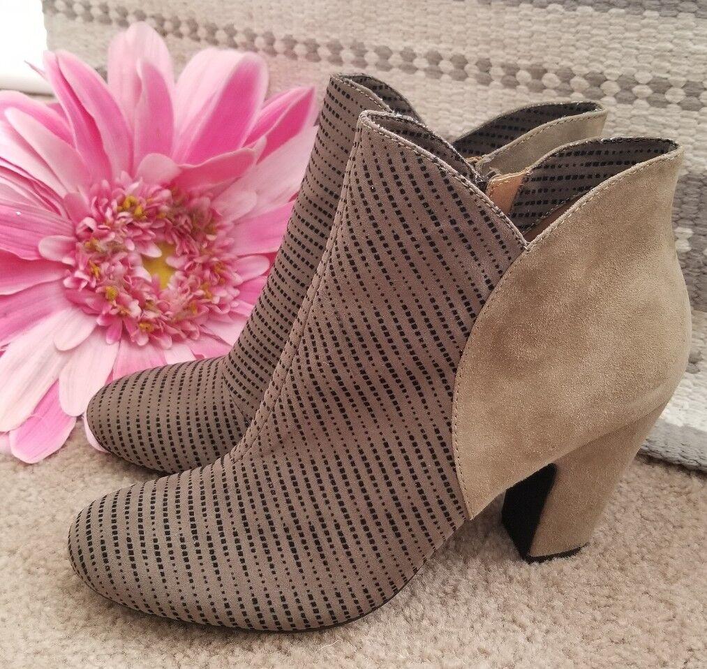 NICOLE CeCe Ankle Stiefel Stiefelies High Heels Leather damen schuhe Größe 10 ks1