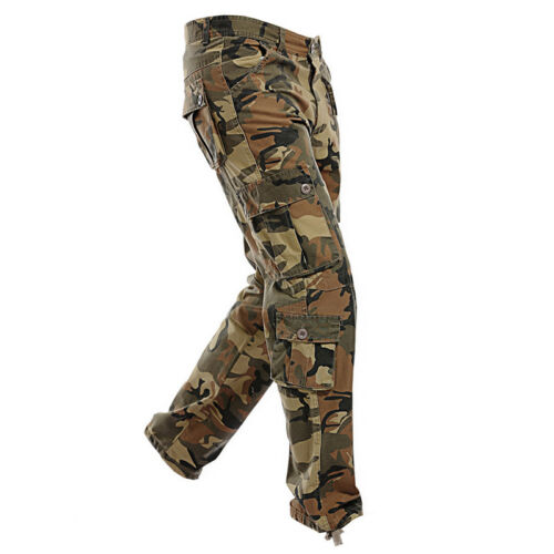 A7 uomo multi-pocket Military Camo Cargo Pantaloni Lavoro Pantaloni Esercito Pantaloni appena
