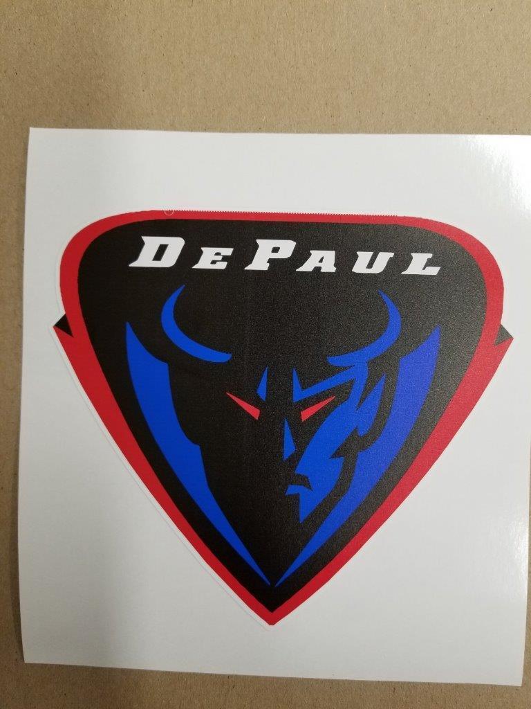 Depaul bluee Demons Cornhole board or vehicle window decal(s)DBD2